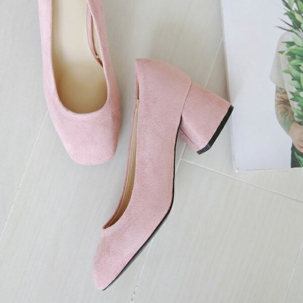 パンプス チャンキーヒール バレエシューズ スエード 黒 ブラック ピンク 太ヒール レディース 靴 婦人靴 歩きやすい 痛くないセール品につき、返品・交換は一切受け付けておりません
