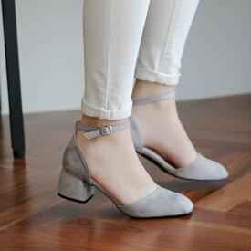 パンプス アンクルストラップ ローヒール スエード 黒 ブラック パープル レディース 靴 婦人靴 歩きやすい 痛くないセール品につき、返品・交換は一切受け付けておりません
