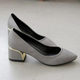 パンプス ローヒール スエード 黒 ブラック ピンク ポインテッドトゥ レディース 靴 婦人靴 歩きやすい 痛くない