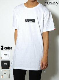 fuzzy ボックスロゴロング丈Tシャツ/ビター系/BITTER/ビタ男/お兄系/渋谷109men's/BOX/ビック/ストリート【あす楽対応】オーバーサイズシャツ/半袖/ロゴ《FUZZY/ファジー》