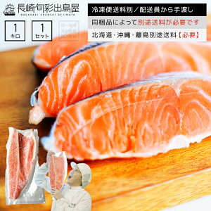 定塩 銀鮭フィレ(片身) 約1kg 冷凍便 常温品と同梱不可 同梱品によって別途送料必要 北海道・沖縄県・離島配送で別途送料必要 出島屋