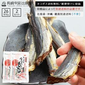 長崎産 噛めば噛むほど旨い味付き焼き飛魚 26g 2袋セット ネコポス送料無料 全国送料無料 ネコポス規格以外は同梱不可 出島屋