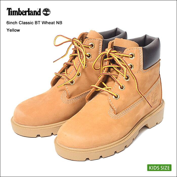 """Timberland/ティンバーランド【12709】6""""PREMIUMBOOT6インチプレミアムブーツWHEATNUBUCK/ウィートヌバック/キッズ・子供用"""