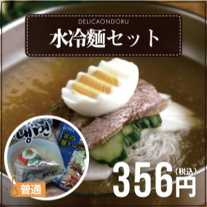 水冷麺セット(1人前)【麺160gスープ300g】【韓国食品】【韓国冷麺】【でりかおんどる】