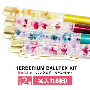 【名入れ】【替え芯付き】【色を選べる】ハーバリウムボールペン 本体 ハーバリウムペン ハーバリウム ペン 手作り キット カスタマイズ オリジナル ノベルティ お祝い お礼 可愛い かわい
