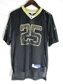 ネコポス可能 NFL Reebok リーボック ニューオーリンズ・セインツ レジー・ブッシュ ♯7 M ゲームシャツ【中古】【MEDIUM】【メンズ】