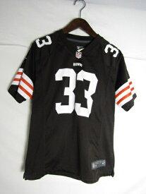 ネコポス可能 NIIKE ナイキ NFL クリーブランド・ブラウンズ トレント・リチャードソン  ゲームシャツ ♯33 youth L【中古】