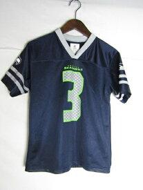ネコポス可能 NFL シアトル・シーホークス ラッセル・ウィルソン ゲームシャツ ♯3 youth M【中古】
