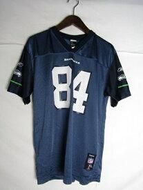 ネコポス可能 NFL シアトル・シーホークス T. J. Houshmandzadeh ゲームシャツ ♯84 youth XL【中古】