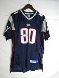 ネコポス可能 Reebok リーバイス NFL ニューイングランド・ペイトリオッツ アントニオ・ブラウン ゲームシャツ ♯80 youth XL【中古】