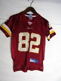 ネコポス可能 Reebok リーボック NFL ワシントン・レッドスキンズ アントワーンランドルエル ゲームシャツ ♯82 youth S【中古】
