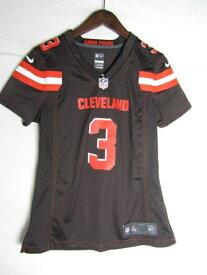 ネコポス可能 NIKE ナイキ NFL クリーブランド・ブラウンズ BRITT ゲームシャツ ♯3 S【中古】