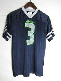 ネコポス可能 NFL シアトル・シーホークス ラッセル・ウィルソン ゲームシャツ ♯3 youth XL【中古】