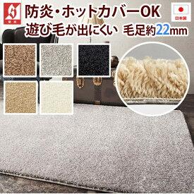 日本製 ラグ カーペット ラグマット 絨毯 北欧 デザイン ふわふわ ナイロン 毛足約22mm 防ダニ 抗菌 prevell プレーベル ジェイド 約190×290cm ( ベージュ ブラック シルバー エクリュ ブラウン ) 引っ越し 新生活