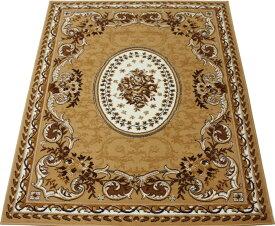 ベルギー製 輸入ラグ 輸入カーペット 激安 じゅうたん カーペット マット ラグマット ラグ オールシーズン 安い 約 200×250cm シラーズ 1123 (Y) ベージュ (ライトブラウン) 絨毯 ジュータン 茶色beige brown rug mat 引っ越し 新生活