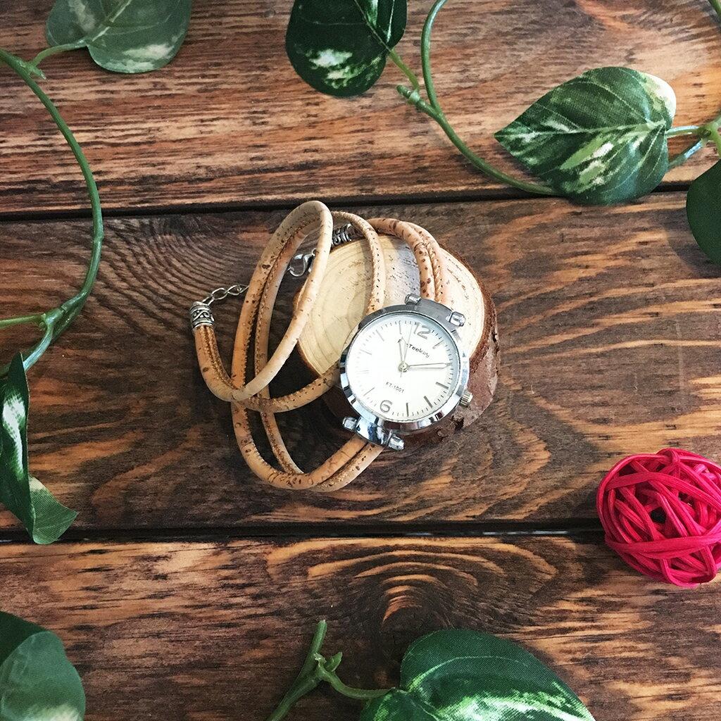 ポルトガル産 天然コルク腕時計ブレスレットモデルPT43 【送料無料】