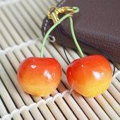 フレッシュ&ジューシー?!さくらんぼ(桜桃)ストラップ&イヤホンジャックピアス