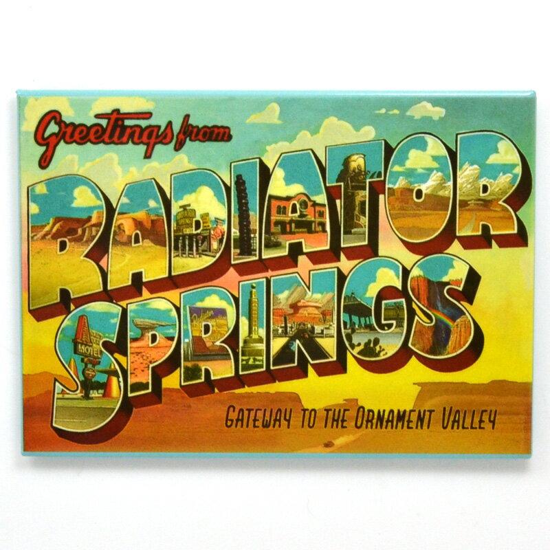 "Disney-PIXAR ""CARS LAND"" ""Radiator Springs"" ディズニー/ピクサー カーズランド限定 「ラジエータースプリングス」マグネット ROUTE66"