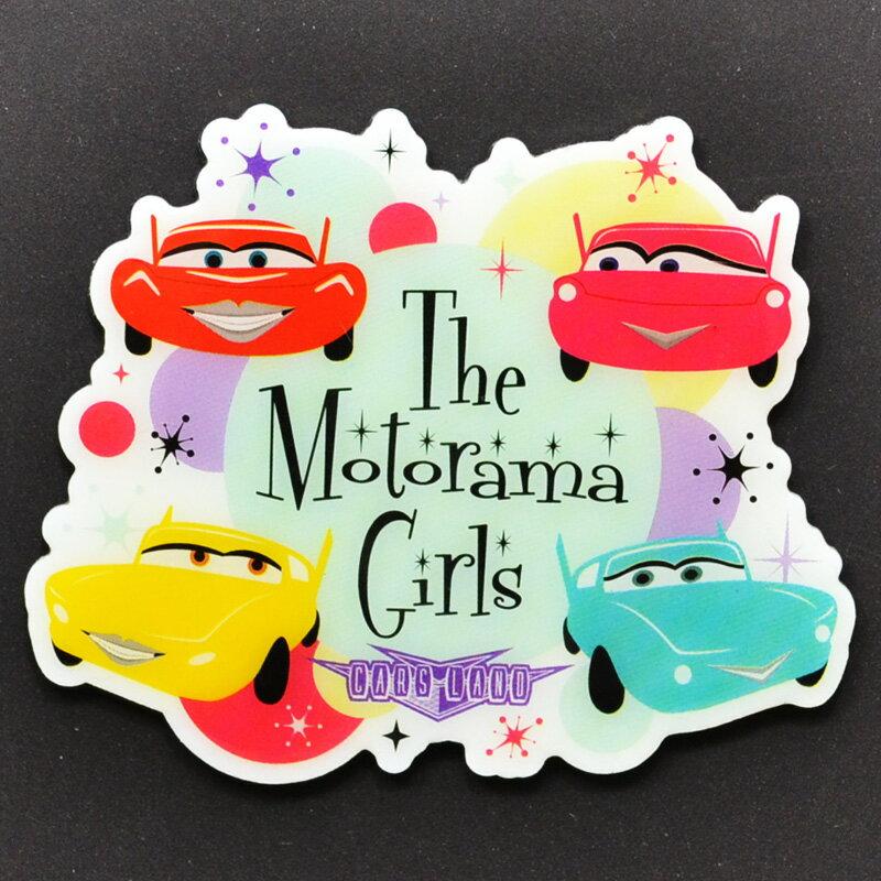 "Disney-PIXAR ""CARS LAND"" ""THE MOTORAMA GIRLS""50s SHOW CAR ディズニー/ピクサー カーズランド限定 「モトラマガールズ」マグネット 50年代ショーカー"