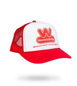 "WIENERSCHNITZEL ""The World's Most Wanted Trucker Hat""(RED) ウインナーシュニッツェル キャップ帽子(レッド) アメリカ ホットドッグ"