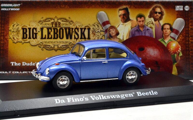 """GREENLIGHT 1:43SCALE HOLLYWOOD """"THE BIG LEBOWSKI Da Fino's VOLKSWAGEN BEETLE グリーンライト 1:43スケール ハリウッド 「ビッグ・リボウスキ - ダ・フィーノ 」「フォルクスワーゲン ビートル」"""