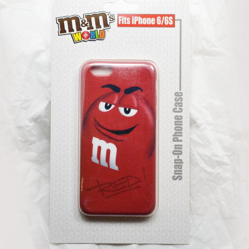 ★SALE★m&m's WORLD Phone 6/6S CASE ☆iPhoneケース RED レッド ライセンス品