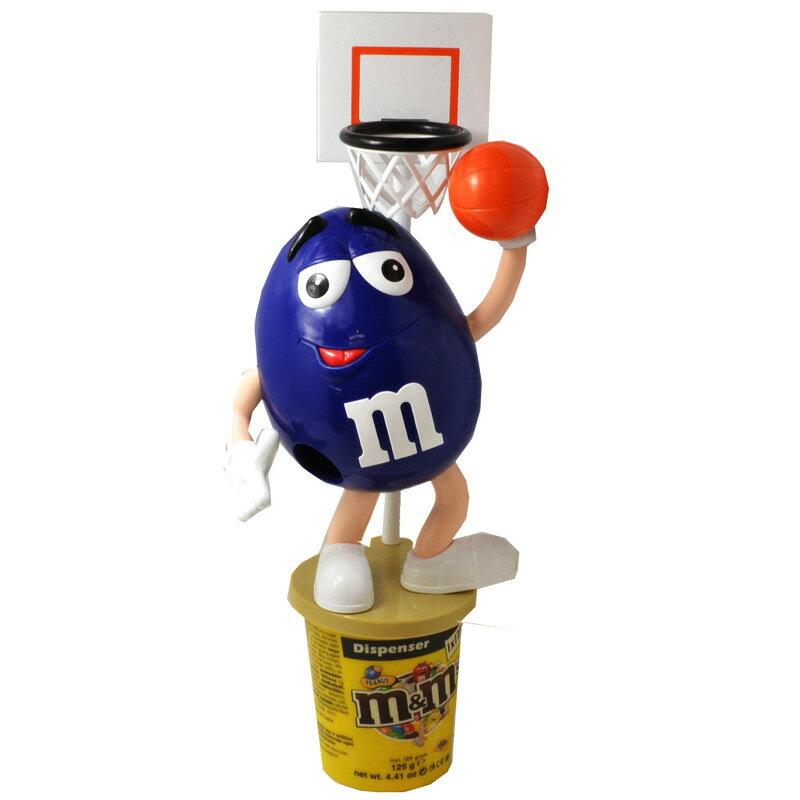 "m&m's ""BASKETBALL - BLUE"" CANDY DISPENSER エム・アンド・エムズ 「バスケットボール - ブルー」キャンディ・ディスペンサー★ヨーロッパ限定!!"