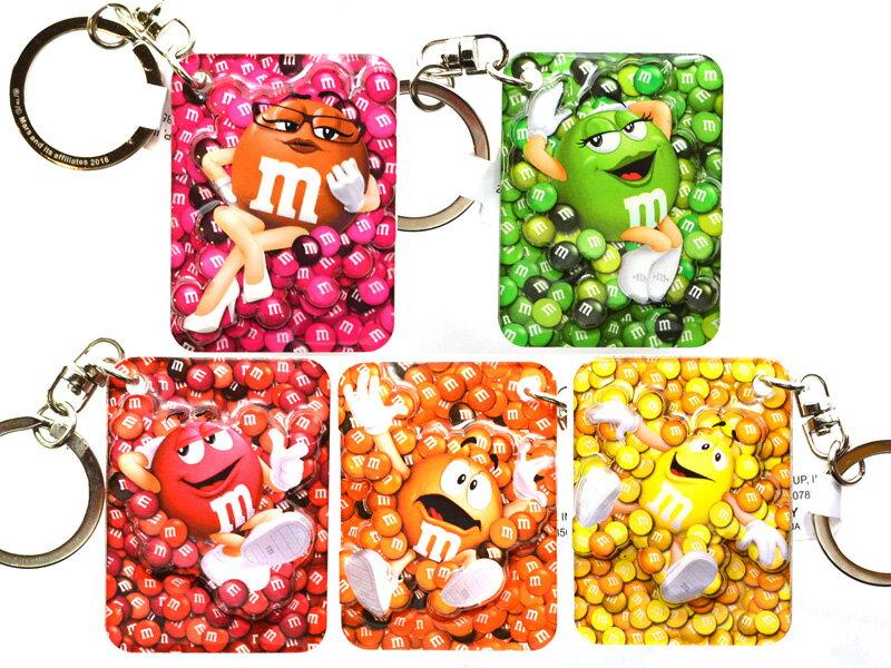 m&m's KEY CHAIN(RED,YELLOW,ORANGE,GREEN,BROWN)キーチェーン/キーホルダー (レッド,イエロー,オレンジ,グリーン,ブラウン)立体型!!