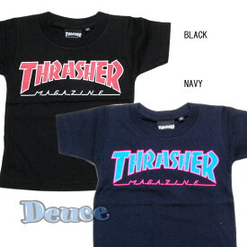 THRASHER スラッシャー SKATEBORD MAGAZINE KIDS キッズ Tシャツ BLACK/RED,NAVY/BLUE