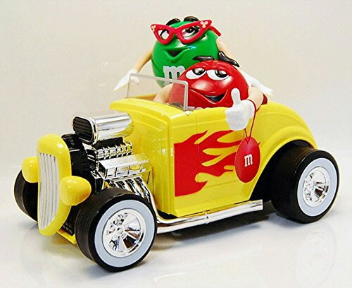 """M&M's DISPENSER """"REBEL without a clue"""" Green&Red HOT ROD ディスペンサー レッド&グリーン ホット・ロッド チョコレート"""
