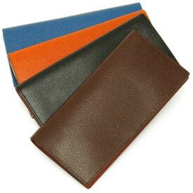 財布 二つ折り長財布 長財布 二つ折り  本革 レザー チェルケス チェルケスレザー レディース メンズ シンプル 黒 ブラック ブラウン オレンジ ブルー SONNE ギフト