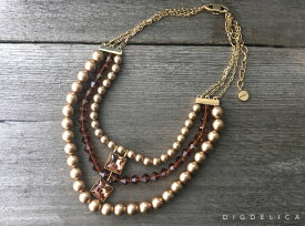 【GIVENCHY】ジバンシィ・ヴィンテージネックレスv1253 ジバンシー【DIGDELICA】UESD中古品・VINTAGE・NECKLACE・ディデリカ ゴールド