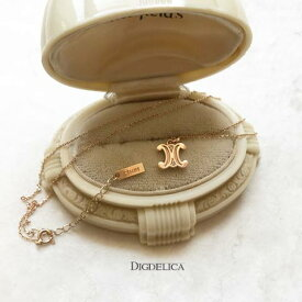 【CELINE】K10 セリーヌネックレス v1481【DIGDELICA】ディデリカ 10金 ピンクゴールド UESD中古品