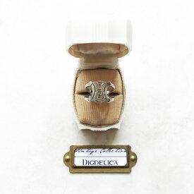 【CELINE】SILVER ヴィンテージセリーヌシルバーリングv1483【DIGDELICA】ディデリカ Vintage UESD中古品 年代物 指輪