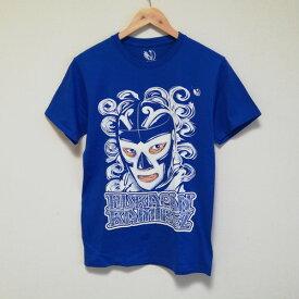 ルチャリブレ プロレス Tシャツ ルチャドール Tシャツ マスクマン ルチャリブレ プロレス Tシャツ ブルー ルチャ ウラカンラミレス