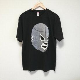 ルチャリブレ プロレス Tシャツ ルチャドール Tシャツ マスクマン ルチャリブレ プロレス Tシャツ ブラック ラメ ルチャ エルサント