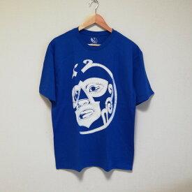 ルチャリブレ プロレス Tシャツ ウラカンラミレス ルチャドール マスクマン Tシャツ ブルー