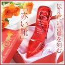 【名入れ専門】【名入れ プレゼント】【文字彫刻込】シンデレラ ガラスの靴 〜赤い靴〜