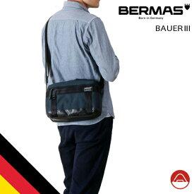 バーマス公式直営 BERMAS バーマス BAUER3 ビジネス カジュアル 60070 ホリゾンタルショルダー ドイツブランド BAUER 1680D テフロン ビジカジ ショルダー 撥水性 通勤