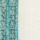 オーダーカーテン【幅101〜200cm×高〜200cm×1枚】エスニック風レースカーテン。アジアン家具が似合うオシャレな空間。洗濯可/アジャ…