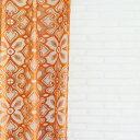 オーダーカーテン【幅〜100cm×高〜200cm×1枚】エスニック風レースカーテン。アジアン家具が似合うオシャレな空間。洗濯可アジャスタ…