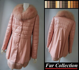 In liking oar / Monk rail / fur in Fox fur X shell pink lamb sheep leather leather down coat fur coat Lady's fur coat rial fur coat ☆ Cal cancer lamb / Tuscany mouton coat / chinchilla / Russian sable coat foreign merchant mink / Gucci / Hermes / D