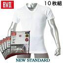 【10枚組】BVD シャツ 丸首 半袖 紳士インナー tシャツ(男の肌着)【天竺】【BVD】【B.V.D】EY713TS-2P71010054