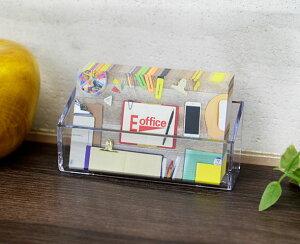 カタログケース 名刺サイズ CR70703 フラット 横型 CREW'S クルーズ社 店舗用品 備品 名刺立て おしゃれ 透明 クリア アクリル シンプル ポイントカード ディスプレイ