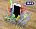 【MAS】マス デスクオーガナイザーテープディスペンサー付き【ペンスタンド ペン立て ペンホルダー】【事務用品 文房…