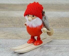 【NORDIKA DESIGN 】ノルディカニッセ スキーをしてるふとっちょサンタクリスマス インテリア 小物 人形 プレゼント ギフト 雑貨 X'mas おしゃれ ステーショナリー デザイン おしゃれ 海外 輸入 カラフル文房具ならイーオフィス
