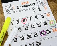 【pencoペンコ】カレンダーA519NH001【文房具旅行文具デザインおしゃれ2019年壁掛けカレンダー】【ハイタイドHIGHTIDE】【おしゃれイーオフィス】
