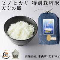新米令和2年産特別栽培米ヒノヒカリ天空の郷高知県本山町玄米5kg