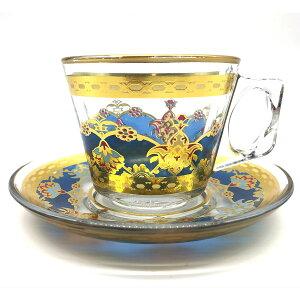 トルコチャイ カップ&ソーサー セット 耐熱ガラス A-17 おしゃれ トルココーヒー グラス クリア ガラス 紅茶 コーヒー 来客用 人気 カップソーサーセット プレゼント ギフト 贈り物 おすすめ
