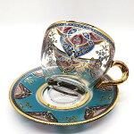 トルコチャイカップ&ソーサー2点セットトルココーヒーグラスMTSG-25
